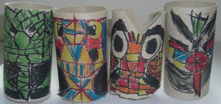 Alinhavar - monstros em rolo de papel